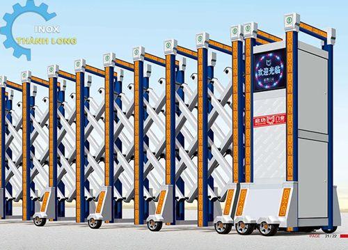 Cổng Xếp Inox Tự Động Chất Lượng | Cổng Bảo Vệ Thông Minh