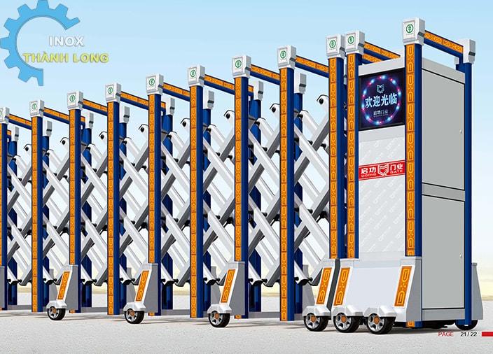 Cổng xếp nhôm nhập khẩu QG-L1608
