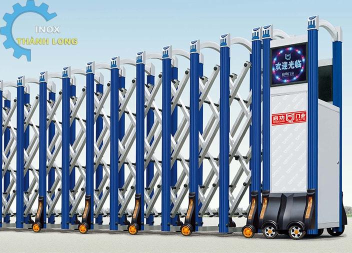 Cổng xếp nhôm nhập khẩu QG-L1617